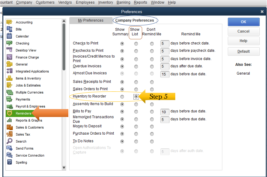Set up and Using Reorder Points in Quickbooks Prem ...