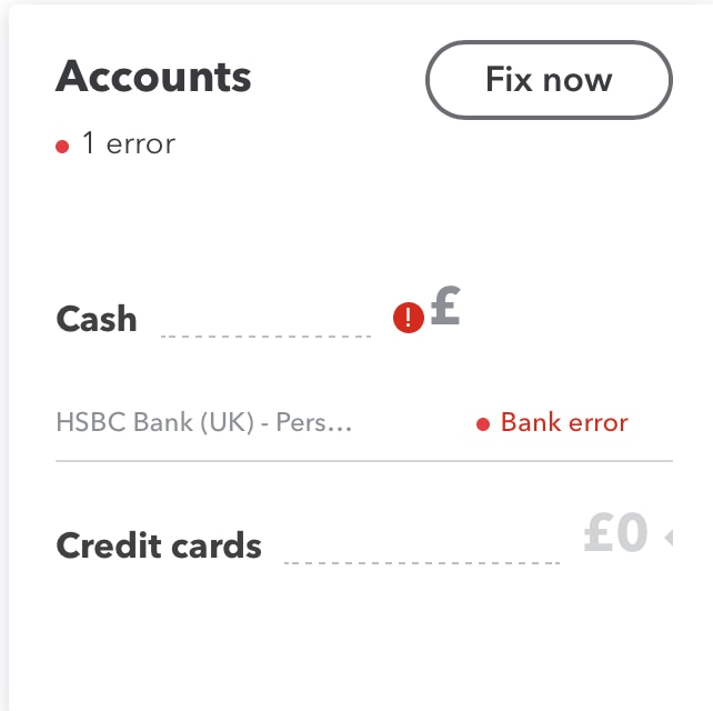 Connecting to HSBC bank account Error 103 - QuickBooks Community