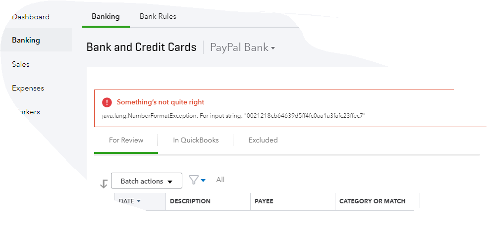PayPal account connect error: java lang NumberForm