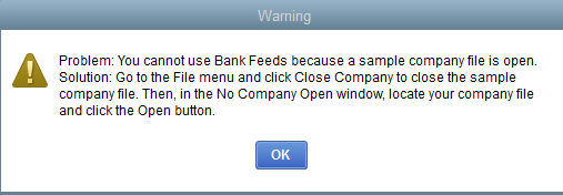 Bank feed is not working