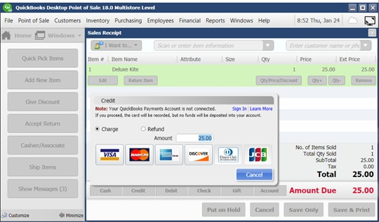 Payments for QuickBooks Point of Sale