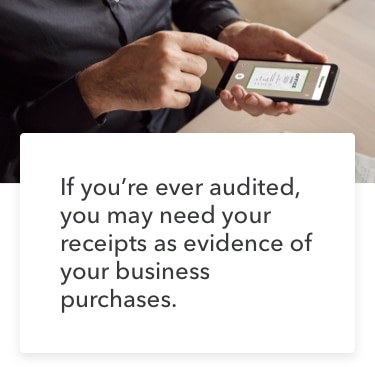 Keep receipts of business purchases for tax time