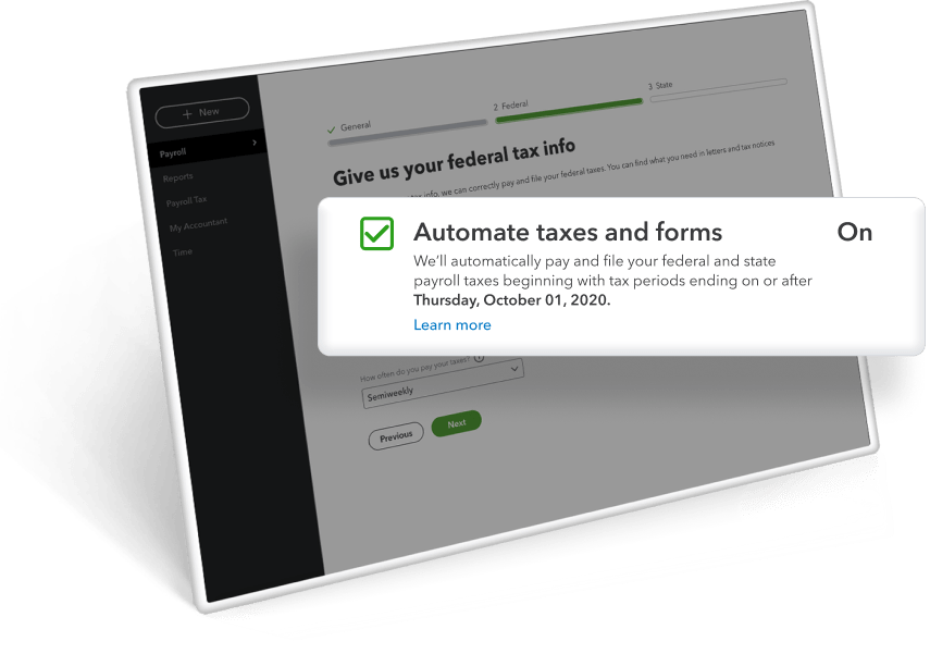 automated tax forms.