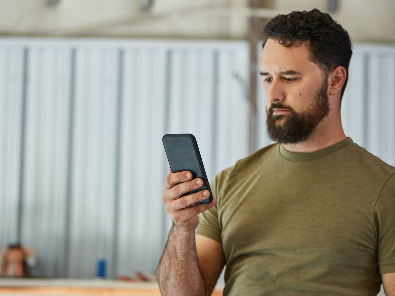 Person using a mobile phone