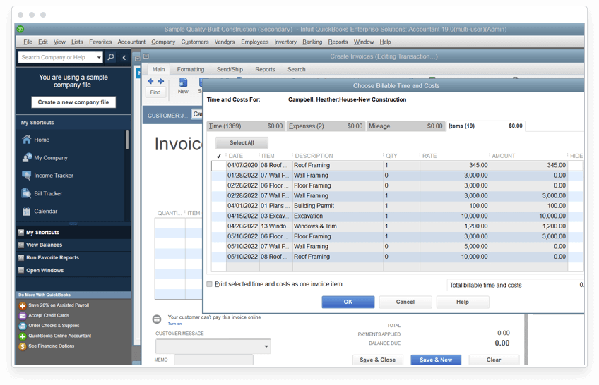 Track unbilled hours and expenses