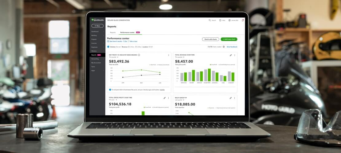 advanced accounting dashboard