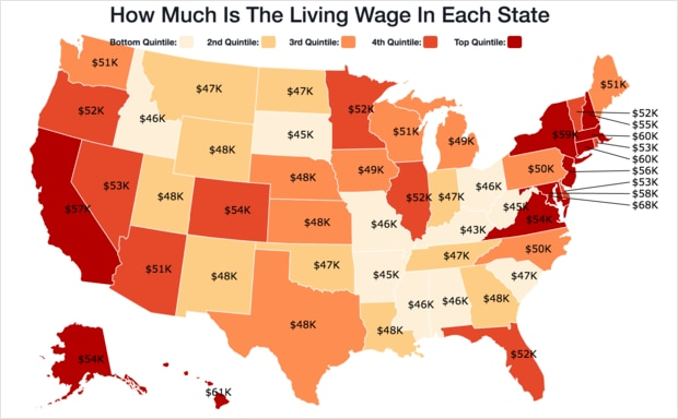 See how your state's minimum wage compares to others.