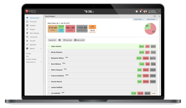 Payroll reporting with QuickBooks Time.