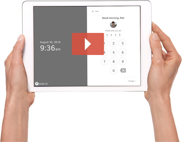Turn your ipad into a time clock