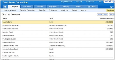Easily setup access and edit your chart of accounts quickbooks