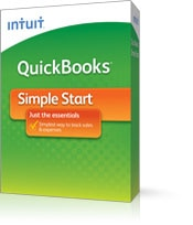QuickBooks Simple Start is the easiest way to track sales and expenses.