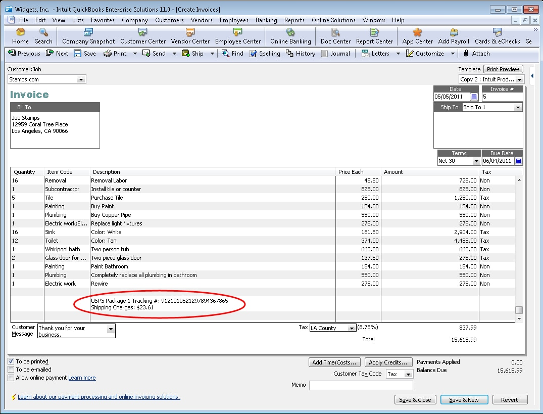 ssqbpro12invoicetrackinguspspng – What is a Shipping Invoice