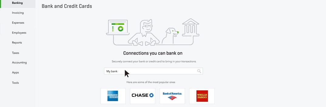 Connect Your Bank & Credit Card Accounts to QuickBooks
