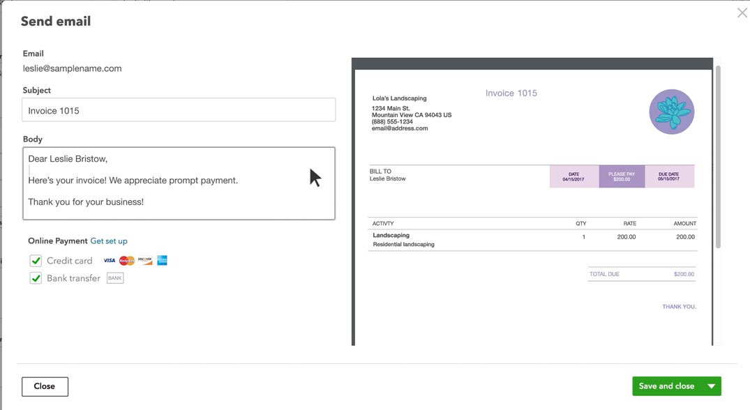 Create An Invoice In QuickBooks - Create paid invoice