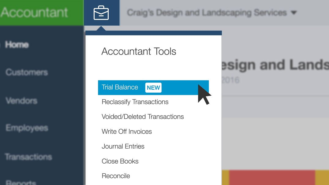 Learn to use the Accountant Toolbox in Quickbooks Online