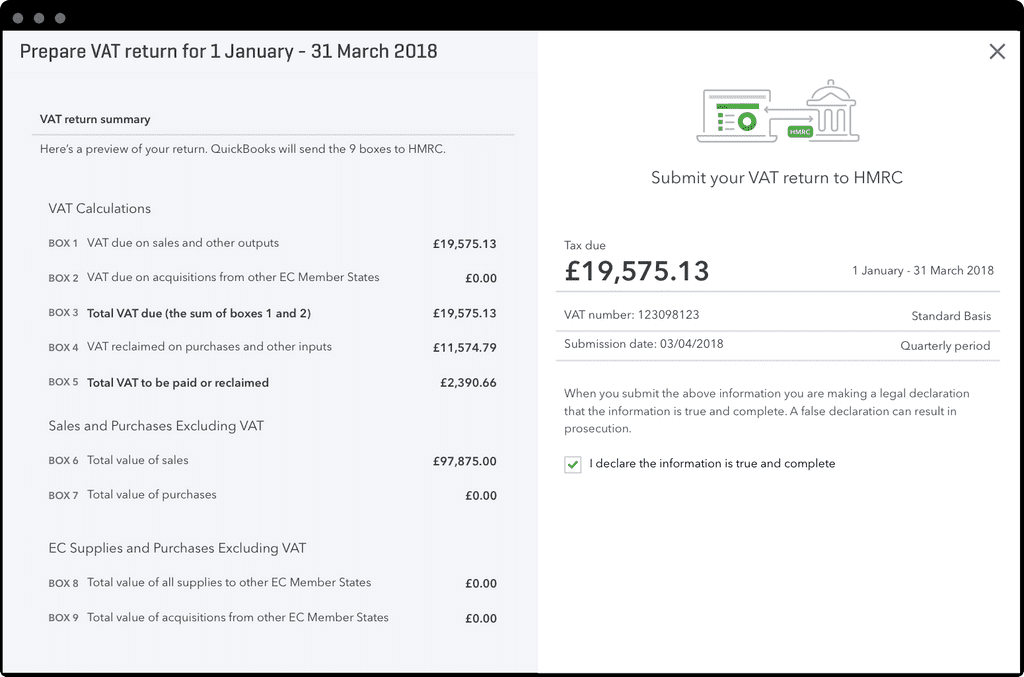 Desktop screenshot showing how to submit your VAT for Making Tax Digital with Bridging Software