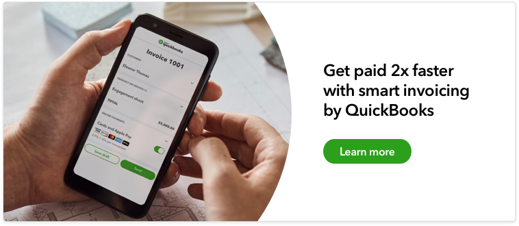 Get paid 2x faster with smart invoicing by QuickBooks