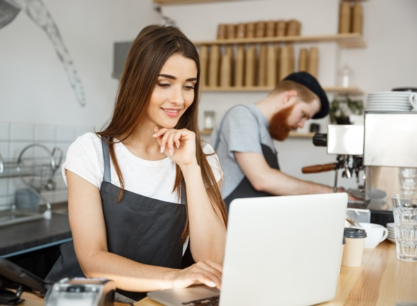 Business accounting daily tasks: coffee shop employees