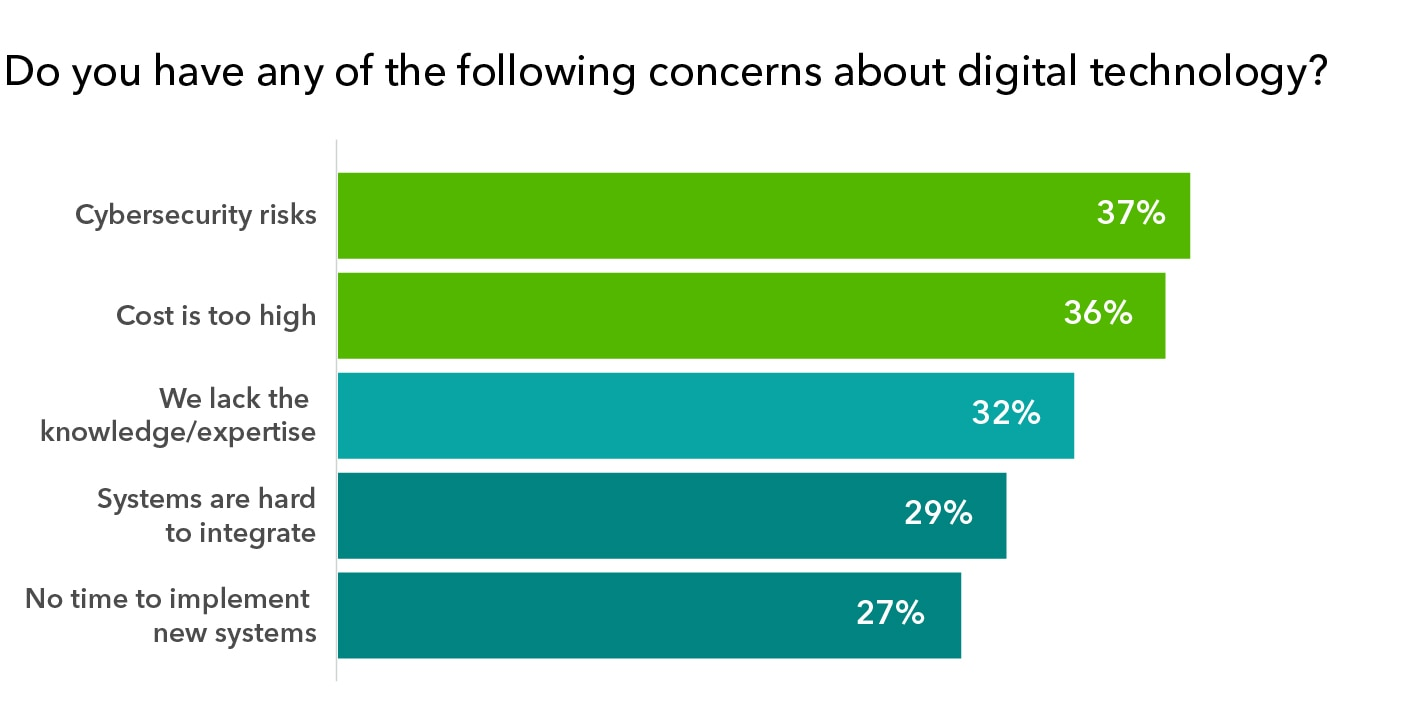 Survey chart: Business owner concerns in 2020