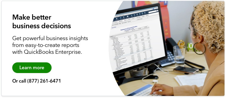 Learn more about how QuickBooks can provide you with better data and insights to grow your food services-based business