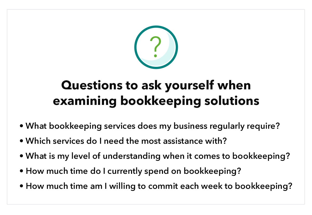 Questions to ask yourself when examining bookkeeping solutions