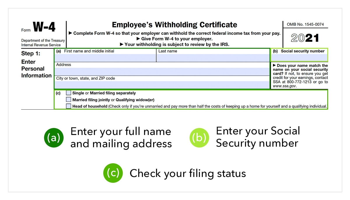 Screenshot of Form W-4 with instructions