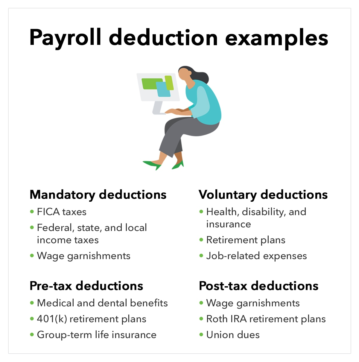 Payroll deductions examples