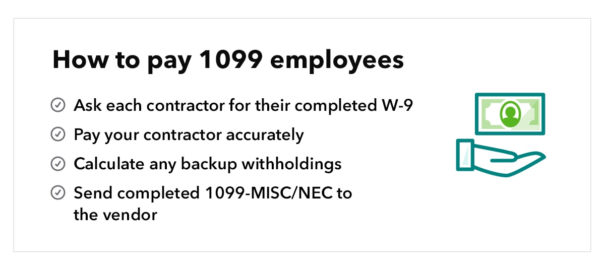 How to pay 1099 employees