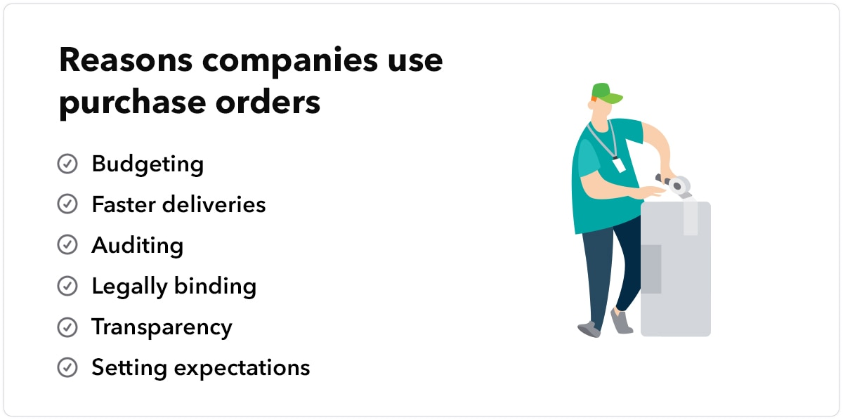 Reasons companies use purchase orders
