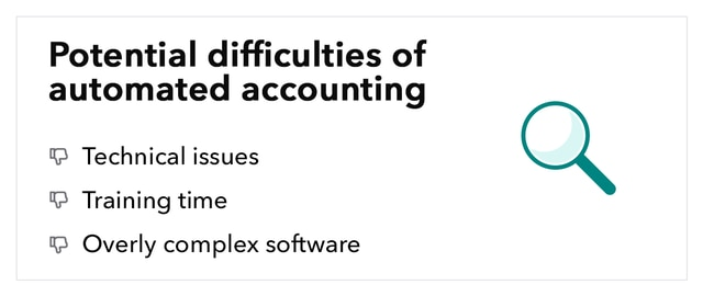 Potential difficulties of automated accounting
