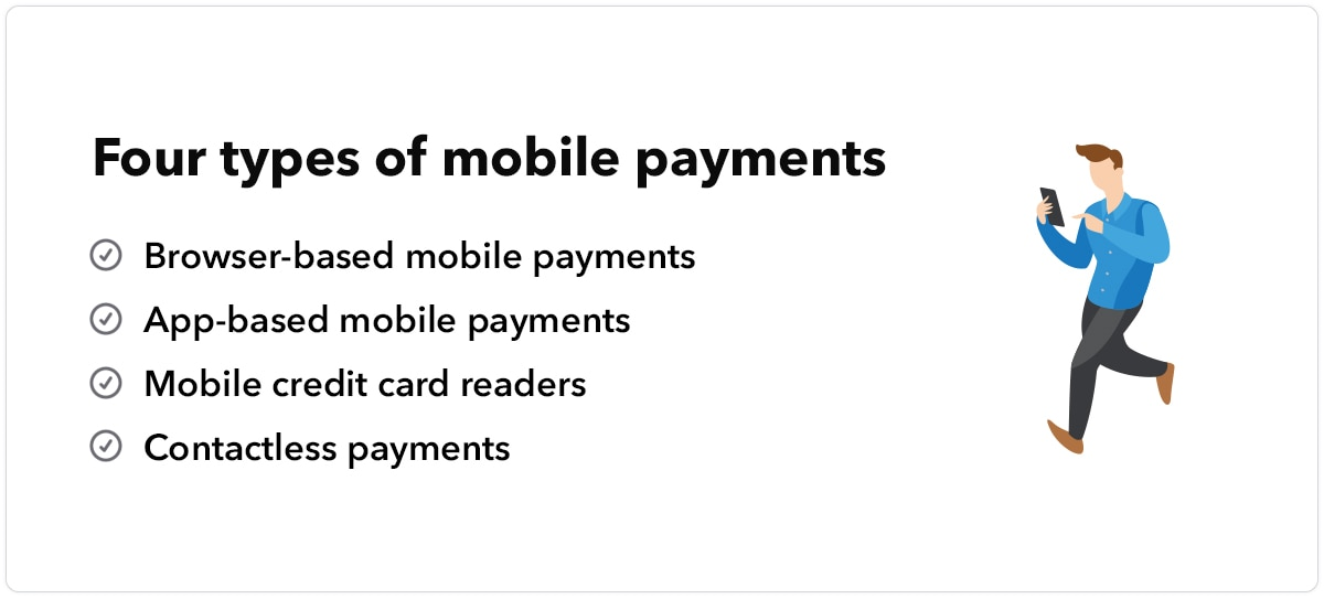 Four types of mobile payments