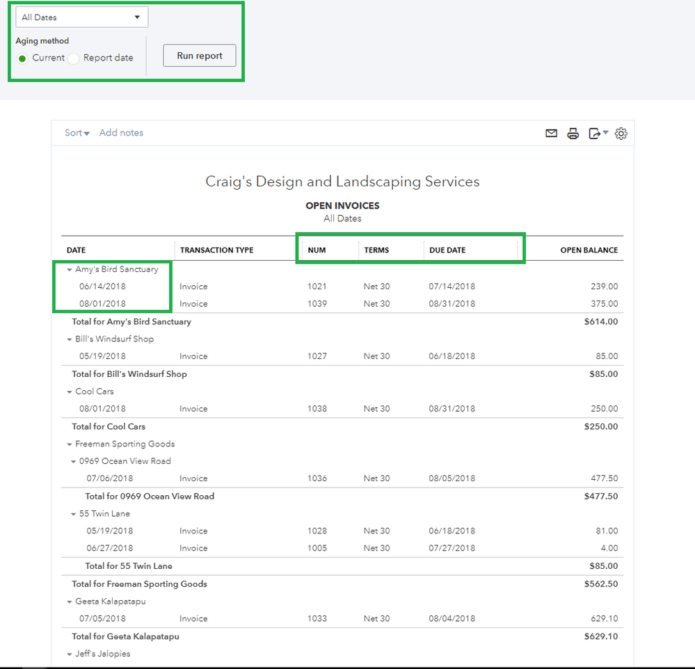 How to review open invoices in QuickBooks Online 2.PNG
